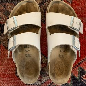 White leather Birkenstock's size 37